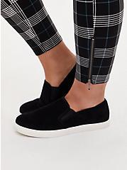 Black & Teal Plaid Ponte Multi Zip Skinny Ankle Pant, PLAID, alternate