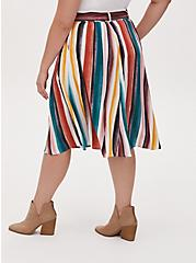 Multi Stripe Self Tie Midi Skirt , PAINTED STRIPE, alternate