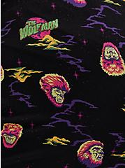 Plus Size Universal Monster's Wolfman Black Sleep Short, MULTI, alternate