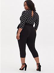 Black & White Polka Dot Studio Knit Jumpsuit , DOT -BLACK, alternate