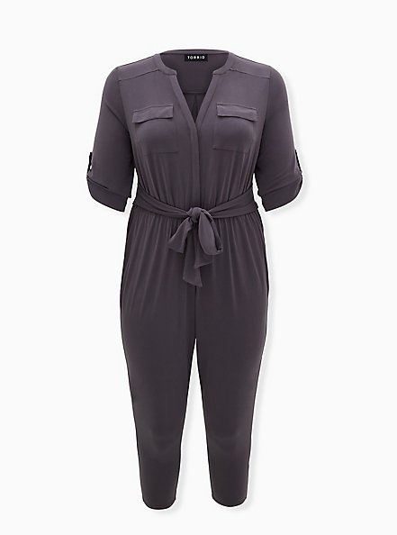 Harper - Dark Slate Grey Studio Knit Jumpsuit , NINE IRON, hi-res