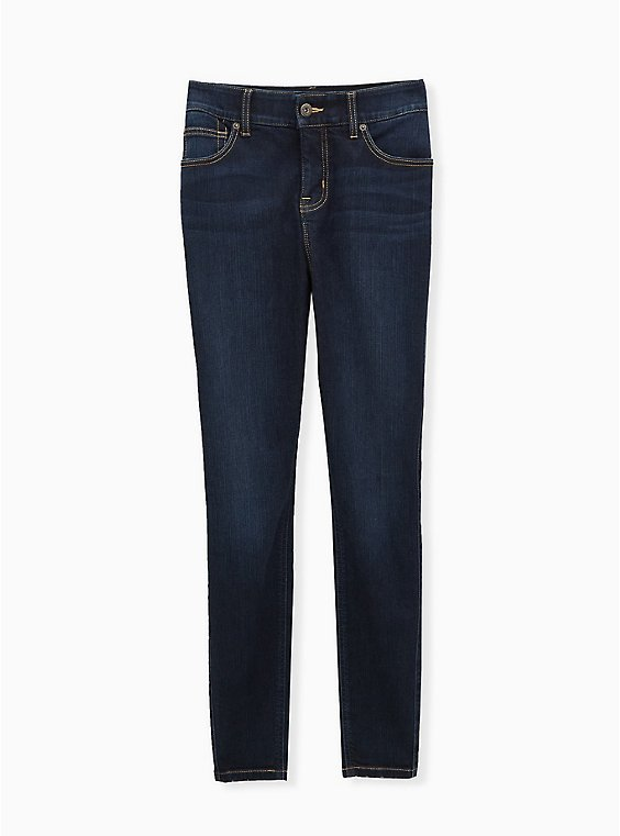 Bombshell Skinny Jean - Premium Stretch Eco Dark Wash, CANARY WHARF, ls