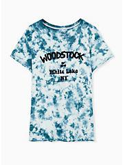 Woodstock Crew Tee - Tie-Dye Teal, , hi-res