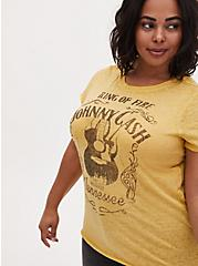 Johnny Cash Crew Tee - Burnout Yellow, , hi-res