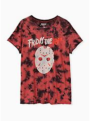 Friday The 13th Crew Tee - Tie-Dye Red, JESTER RED, hi-res