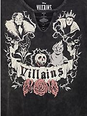 Disney Villains Black Mineral Wash O-ring Top, DEEP BLACK, alternate
