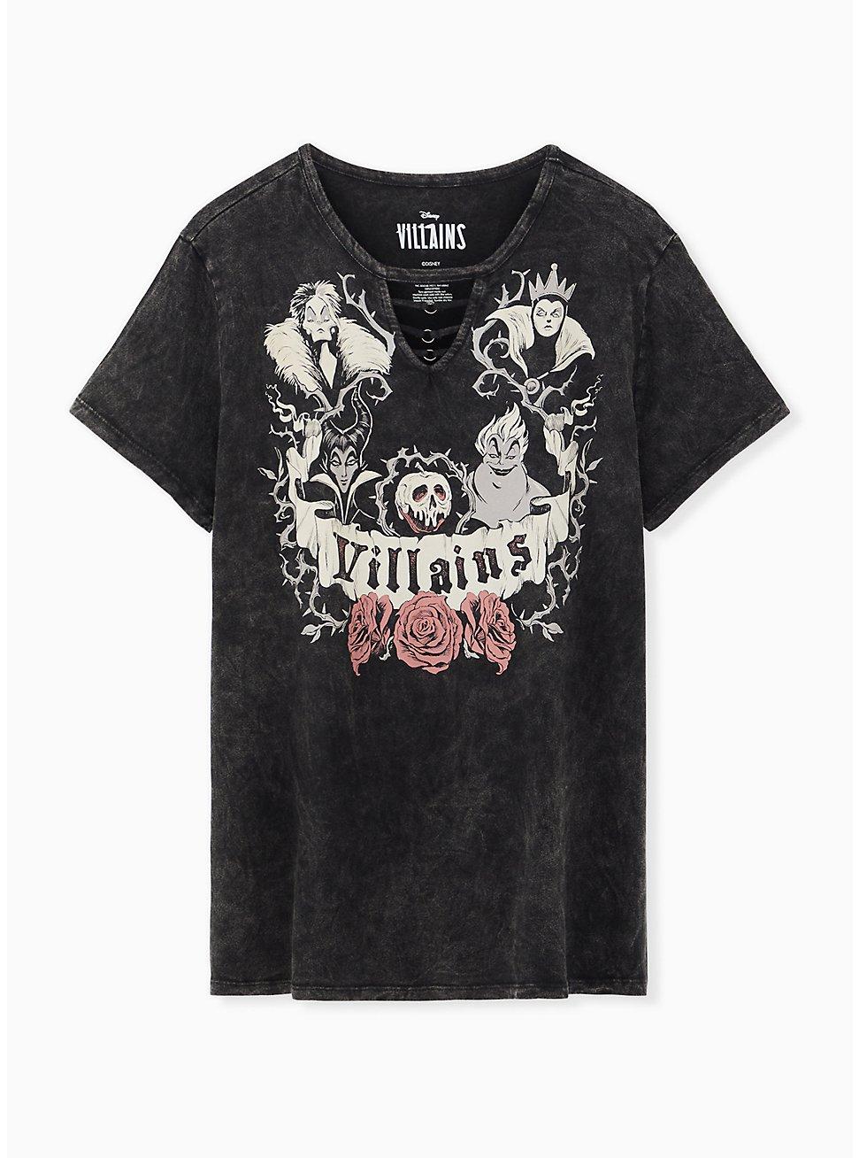 Disney Villains Black Mineral Wash O-ring Top, DEEP BLACK, hi-res