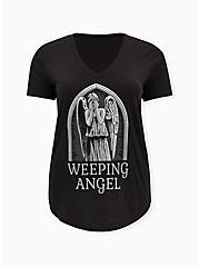 Her Universe Doctor Who Weeping Angel Ladder Sleeve Top, DEEP BLACK, hi-res
