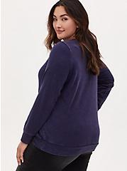 Her Universe Doctor Who Tardis Navy Fleece Sweatshirt, PEACOAT, alternate