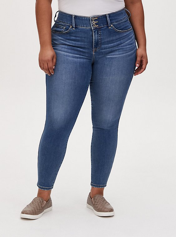 Jegging - Super Soft Eco Medium Wash, MARITIME, hi-res