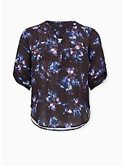 Harper - Her Universe Doctor Who Tardis Galaxy Georgette Pullover Blouse, MULTI, hi-res
