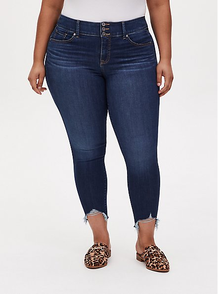Jegging - Super Soft Eco Medium Wash with Frayed Hem, HYDROSPHERE, hi-res