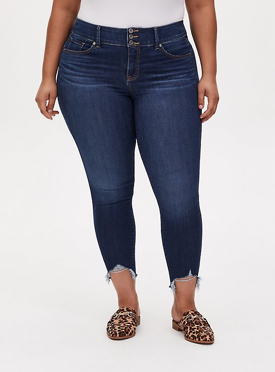 Jegging - Super Soft Eco Medium Wash with Frayed Hem, , hi-res
