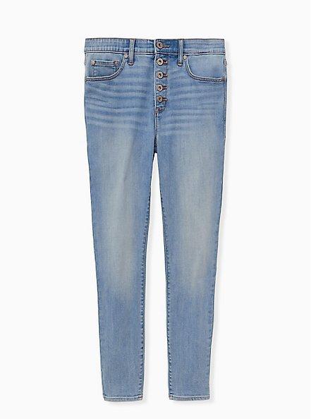 Sky High Skinny Jean - Premium Comfort Light Wash, OCEANUS, hi-res