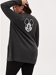Disney Mickey Mouse Always Original Charcoal Grey Boyfriend Cardigan, HEATHER  CHARCOAL, hi-res