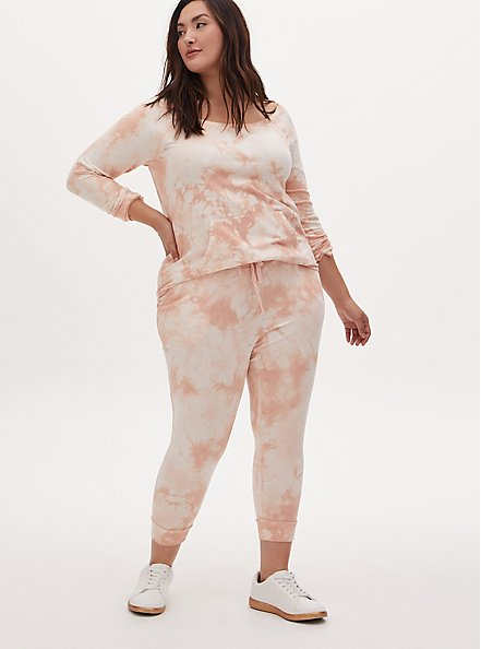 Light Pink Tie-Dye Terry Active Jogger, TIE DYE, alternate