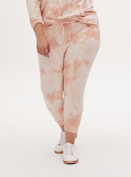 Light Pink Tie-Dye Terry Active Jogger, TIE DYE, hi-res