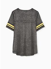 Plus Size NFL Pittsburg Steelers Football Tee - Vintage Black, DEEP BLACK, alternate