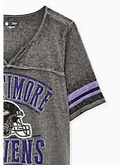 NFL Baltimore Raves Football Tee - Vintage Black, DEEP BLACK, alternate