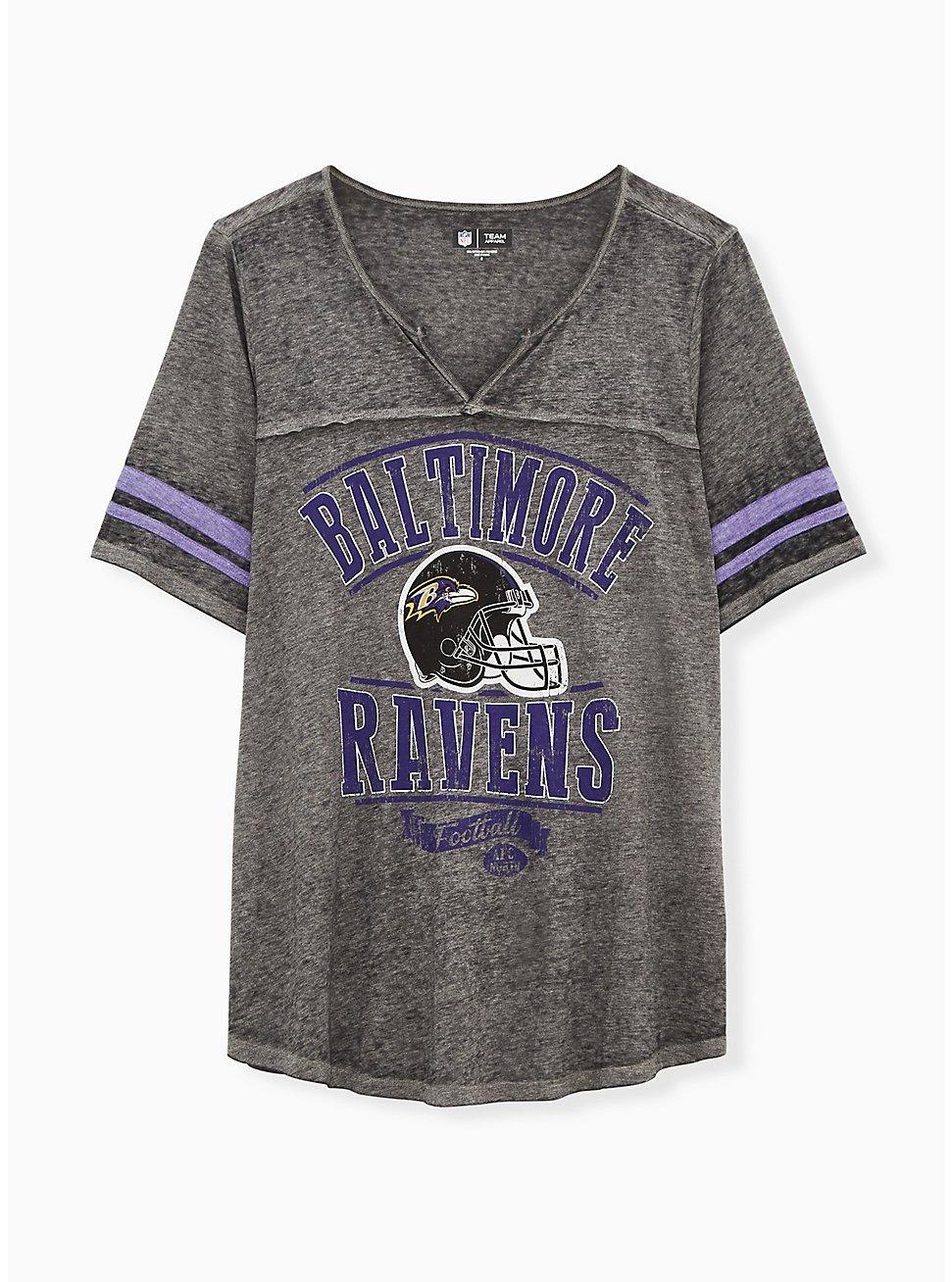 NFL Baltimore Raves Football Tee - Vintage Black, DEEP BLACK, hi-res