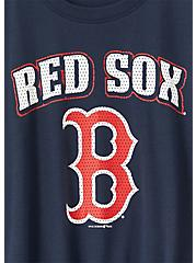 MLB Boston Red Socks Tie Front Tee - Navy, PEACOAT, alternate
