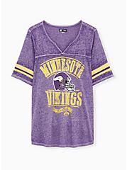 NFL Minnesota Vikings Football Tee - Vintage Purple, , hi-res