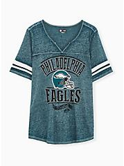 Plus Size NFL Philadelphia Eagles Football Tee - Vintage Teal , , hi-res