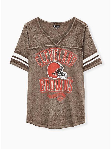 NFL Cleveland Browns Football Tee - Vintage Brown, BROWN, hi-res