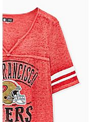 Plus Size NFL San Francisco 49ers Football Tee - Vintage Red, JESTER RED, alternate