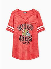 Plus Size NFL San Francisco 49ers Football Tee - Vintage Red, JESTER RED, hi-res