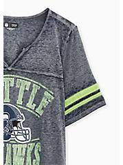NFL Seattle Seahawks Football Tee - Vintage Navy, PEACOAT, alternate