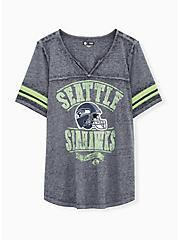 NFL Seattle Seahawks Football Tee - Vintage Navy, PEACOAT, hi-res