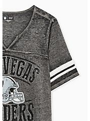 NFL Las Vegas Raiders Football Tee - Vintage Black, DEEP BLACK, alternate