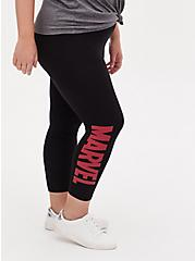 Marvel Logo Black Crop Legging, DEEP BLACK, alternate