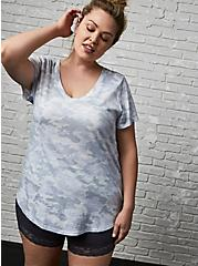 Classic Fit V-Neck Tee - Heritage Slub Camo Light Grey , COZY CAMO, alternate