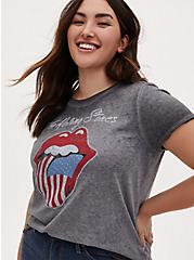 Classic Fit Crew Tee - The Rolling Stones Washed Grey, MEDIUM HEATHER GREY, hi-res
