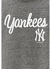 MLB New York Yankees Black Burnout Sweatshirt , BLACK, alternate