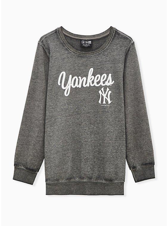 MLB New York Yankees Black Burnout Sweatshirt , , hi-res