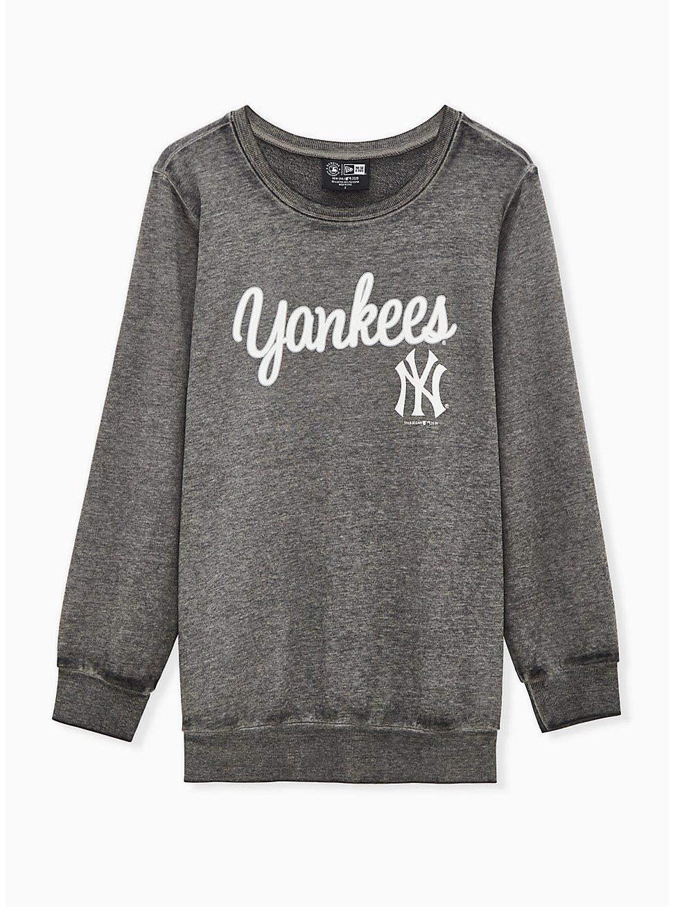 MLB New York Yankees Black Burnout Sweatshirt , BLACK, hi-res