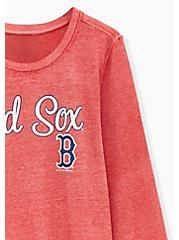 MLB Boston Red Socks Red Burnout Sweatshirt , , alternate