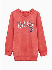 MLB Boston Red Socks Red Burnout Sweatshirt , , hi-res