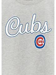 MLB Chicago Cubs Grey Burnout Sweatshirt , , alternate