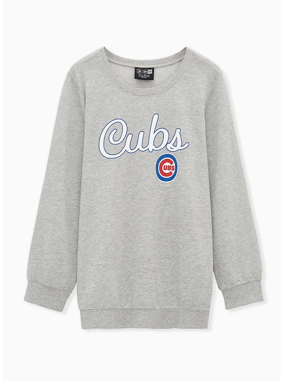 MLB Chicago Cubs Grey Burnout Sweatshirt , , hi-res