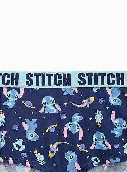 Disney Lilo & Stitch Navy Cotton Boyshort Panty, MULTI, alternate