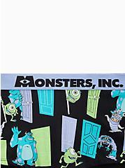 Disney Monsters Inc. Doors Black Cotton Boyshort Panty, MULTI, alternate