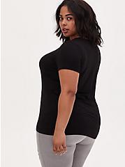 Slim Fit V-Neck Tee - Super Soft Black , DEEP BLACK, alternate