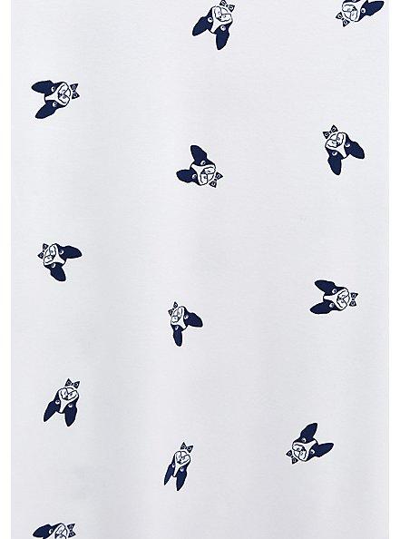 Plus Size Slim Fit V-Neck Tee - Super Soft Frenchie Print White, FRENCHIES - WHITE, alternate