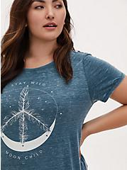 Stay Wild Moon Child Classic Fit Crew Tee - Vintage Burnout Teal, SECRET GARDEN, hi-res