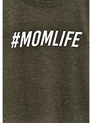 #MomLife Slim Fit Crew Tee - Triblend Olive Green , MEDIUM HEATHER GREY, alternate