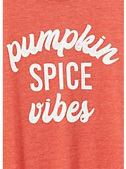 Pumpkin Spice Vibes Slim Fit Crew Tee - Triblend Jersey Orange, , alternate